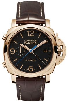 Officine Panerai Luminor 1950 3 Days Flyback Chrono Automatic Oro Rosso PAM00525 - золотые мужские часы