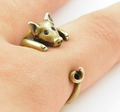 2016 Hot Sale Lucky Pig Animal Wrap Ring Fine Jewelry for Ladies and Girls This Little Piggy, Little Pigs, Miss Piggy, Cute Piggies, Flying Pig, I Love Jewelry, Fine Jewelry, My Style, Diamond