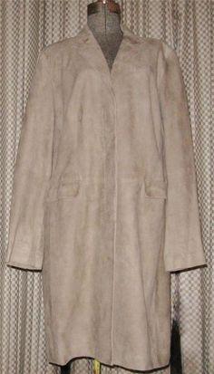 TALBOTS $900 SUPER SOFT SUEDE COAT Full Length LIGHT BROWN Khaki TAN LONG 18 NWT #Talbots #Trench