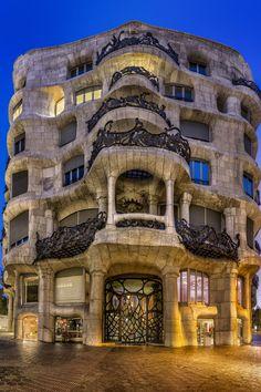 Gaudi Casa Milà is often referred to… Barcelona Architecture, Art Nouveau Architecture, Beautiful Architecture, Art And Architecture, Barcelona City, Barcelona Catalonia, Unique Buildings, Amazing Buildings, Sustainable Architecture