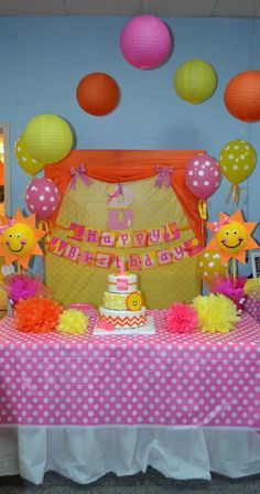 You are my Sunshine Birthday Party dessert table and backdrop!  See more party planning ideas at CatchMyParty.com!