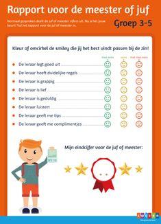 Laat leerlingen jou beoordelen met een leerkrachtenrapport | Leader In Me, Smiley, Classroom, Humor, Kids, Wordpress, Fitness For Kids, Emoticon, Class Room
