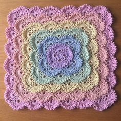 Fluffy Meringue Stitch Baby Blanket Free Crochet Pattern and Video Tutorial Crochet Baby Blanket Free Pattern, Crochet Coaster Pattern, Crochet Mandala Pattern, Crochet Square Patterns, Crochet Stitches, Free Crochet, Crochet Poncho, Crochet Afghans, Baby Outfits