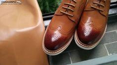Chamaripa - Casual Elevator Shoes Height Increasing Bullock Brown - 2.56...