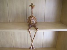 Long-legged paper mache giraffe shelf-sitter!!