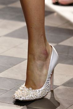 Bridal shoes!!  Giambattista Valli debut couture collection via theaisle blog.