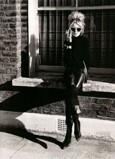bridgette bardot. all black everything.