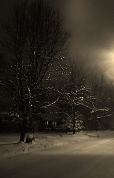Beautiful snowy night at about two AM in Ohio.