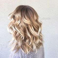 Curly Blonde Long Bob Haircut Idea