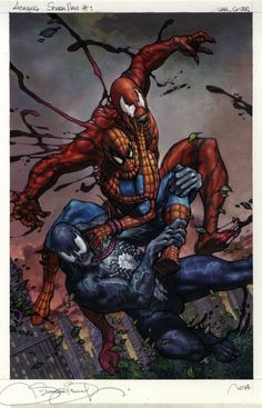 Amazing Spider-Man #1 variant COVER by Simone Bianchi --- Spidey, Venom & Carnage !!