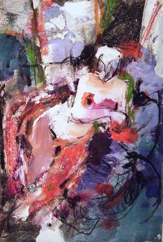 "Saatchi Online Artist: Fotini Hamidieli; Charcoal, 2011, Drawing ""reclining figure"""