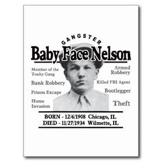 Shop Gangster Baby Face Nelson Poster created by cdandc. Gangster Halloween Costumes, Baby Face Nelson, Gangster Tattoos, Female Poets, Small Business Solutions, Halloween Bags, Mug Shots, Drink Coasters, Custom Posters