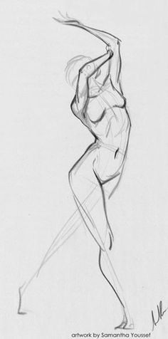 A quick 30 second gesture. Derwent Drawing Pencils on Newsprint. Body Drawing, Life Drawing, Drawing Sketches, Drawing Tips, Human Drawing, Drawing Ideas, Body Sketches, Drawing Faces, Human Figure Sketches
