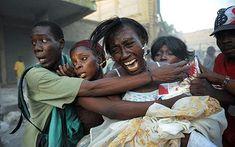 Haiti earthquake survivors