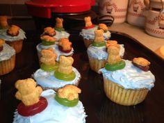 teddy graham water fun cupcakes up close