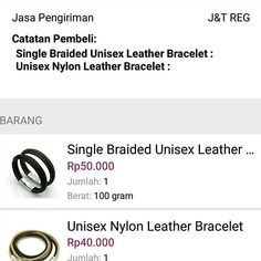 Thank for shopping at our store @ilabel.id . Single Braided Unisex Leather Bracelet Rp. 50,000 . Detail Produk: • Genuine Leather • Stainless Steel . Limeted Stock !! Gram 'em fast �� Ready Colour: Black & Brown . #gelang #jualgelang #gelangkulit #leatherbracelet #couplebracelet #doublebraided #accesories #armcandy #igers #instalike #trend #fashion #jualgelangexclusive #jualgelangkulit #gelangpremium #genuineleather #stainlesssteel…