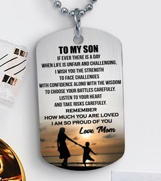 LOVE SON ♥ Surprise Your Son with this beautiful Dogtag and melt his heart! Son Love Quotes, Son Quotes From Mom, Mother Son Quotes, My Children Quotes, Mommy Quotes, Birthday Quotes Kids, Birthday Wishes For Son, Happy Birthday Son, I Love You Son