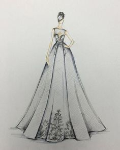 """""""I surround myself with confident women and am constantly inspired by their strength and poise,"""" Berta Balilti says of this season's designs for her eponymous l Wedding Dress Illustrations, Wedding Dress Sketches, Dress Design Sketches, Design Illustrations, Fashion Drawing Dresses, Fashion Illustration Dresses, Drawing Fashion, Fashion Design Portfolio, Fashion Design Drawings"""