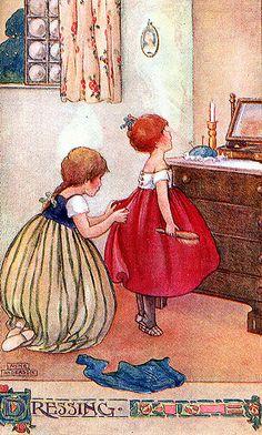 Vintage Anne Anderson Illustration-Dressing