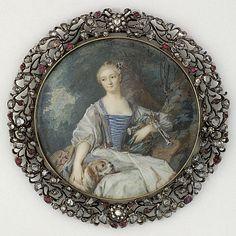 Miniature of Madame de Pompadour as a Shepherdess
