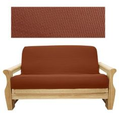 Elegant Ribbed Brick Futon Cover Queen 635 By Slipcover 79 00 See Sizing And Product