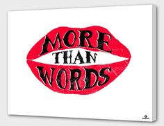 """""""More than Words"""", Numbered Edition Canvas Print by Lucas Scialabba - From $69.00 - Curioos"""