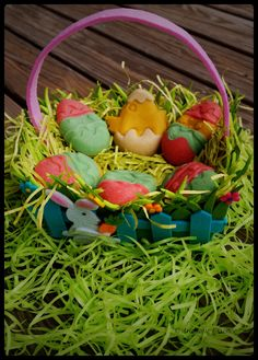 Marzipan Easter eggs