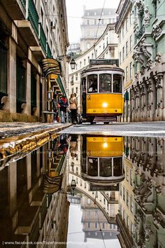 """See 312 photos and 20 tips from 4620 visitors to Baixa-Chiado. """"Lovely old neighborhood in the historical side of Lisbon. Visit Portugal, Portugal Travel, Reflection Photography, City Photography, Lisbon Tram, Lisbon Sights, Places To Travel, Places To Visit, Foto Picture"""