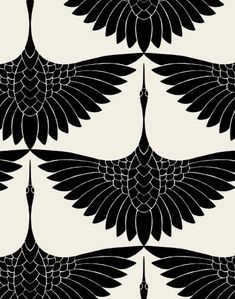Carrie Hansen Swan Textile Design- I actually love this as a tattoo idea, just one bird between shoulder blades. Carrie Hansen Swan Textile Design- I actually love this as a tattoo idea, just one bird between shoulder blades. Motifs Textiles, Textile Prints, Textile Patterns, Textile Logo, Textile Pattern Design, Boho Pattern, Pattern Art, Pattern Flower, Pattern Fabric