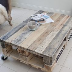 Crative Pallet Coffee Table Industrial Style Upcycled Reclaimed Wood