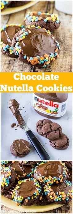 My favorite Chocolate Nutella Cookies! So easy to make  always a huge hit!