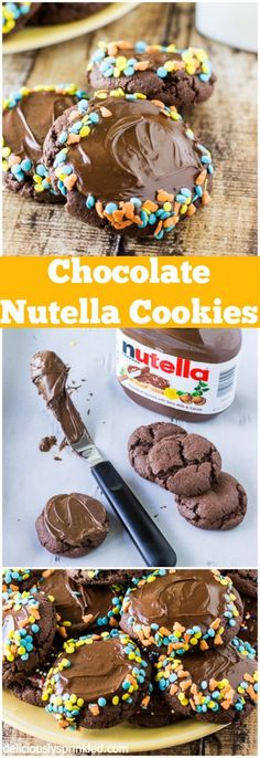 My favorite Chocolate Nutella Cookies! So easy to make & always a huge hit!