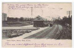 Union Train Depot Akron Ohio 1905 postcard | eBay