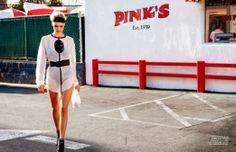 Kelly Rohrbach Models Street Style Looks for ELLE France