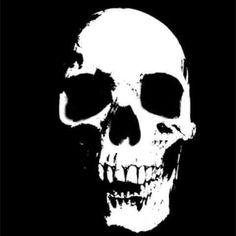 Skull Stencil, Skull Art, Ghost Rider Tattoo, Skeleton Face, Skull Tattoo Design, Jolly Roger, Black And White Drawing, Custom Tees, Skull And Bones