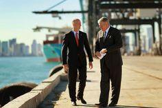 Gov. Rick Scott in Port Miami