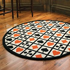 Poker Game Room Rug - Frontgate