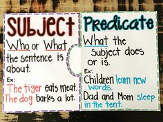 Nice Subject Predicate Worksheets For Grade that you must know, Youre in good company if you?re looking for Subject Predicate Worksheets For Grade Subject And Predicate Worksheets, Subject And Verb, Fourth Grade Writing, 6th Grade Ela, 3rd Grade Reading, Second Grade, Grammar Anchor Charts, Writing Anchor Charts