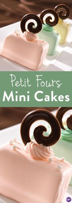 How to Make Petit Fours Mini Cakes - Bake these elegant Petit Fours Mini Cakes that look so classy to serve to your guests. Perfect for tea time, weddings, and shower celebrations.
