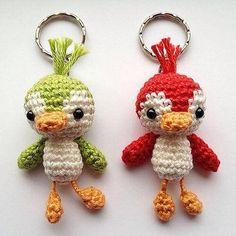 Crochet penguin keychain