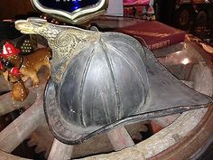 RARE H T Gratacap New York High Eagle Leather Fire Helmet