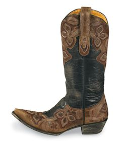 NEED to update my cowboy boots - brown/black would be a great idea for a replacement!