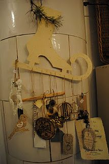 collection of cool things hanging from a shape