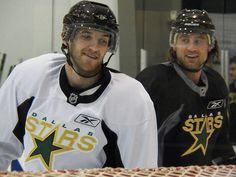 Do we even want to know what Goose & Burish are laughing about? Probably! - 100_0690 by PNLT_BX, via Flickr