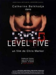 For anyone watching Chris Marker's Level 5 now, you may find it hard to believe this is a film released just two years before The Matrix. Obviously there's nothing wrong with low-budget science fiction, and Marker clearly has some understanding. Original Movie Posters, Film Posters, Poster On, Poster Prints, Nagisa, French Movies, Information Poster, Film Releases, Blu Ray