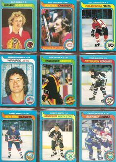 199-207 Pat Ribble, Guy LaFleur, Mel Bridgman, Morris Lukowich, Don Lever, Tom Bladon, Garry Howatt, Bobby Smith, Craig Ramsey