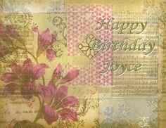 happy birthday Joyce