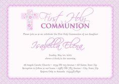 Primera comunión invitaciones, invitaciones de comunión, primera comunión invitaciones niña, invitaciones de comunión para niñas - chica bautismo