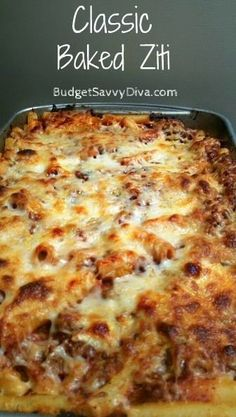 Baked Ziti is my favorite pasta dish!!
