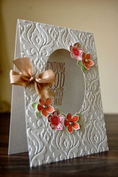 UK Independent Stampin' Up! Demonstrator - Julie Kettlewell: Petite Petals aperture card
